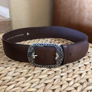 SILPADA Brown Leather Belt